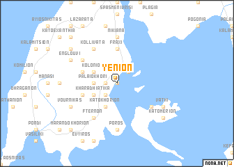 map of Yénion