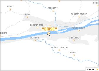 map of Yenisey