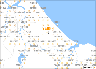 map of Yên Xá