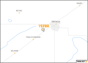 map of Yerba