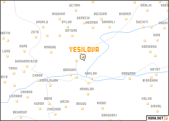 map of Yeşilova
