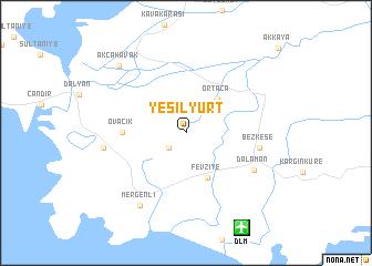 map of Yeşilyurt