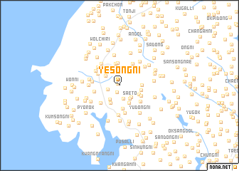 map of Yesŏng-ni