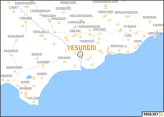 map of Yesŭng-ni