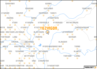 map of Yezingon