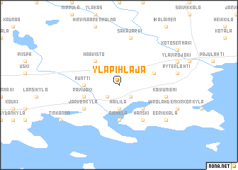 map of Ylä-Pihlaja
