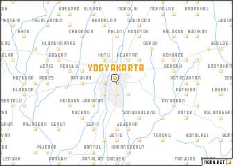 Yogyakarta (Indonesia) map - nona.net