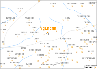 map of Yolaçan
