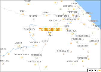map of Yŏngdŏng-ni