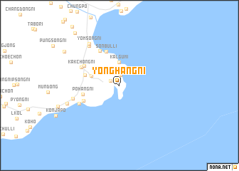 map of Yonghang-ni