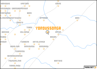 map of Yoroussonga