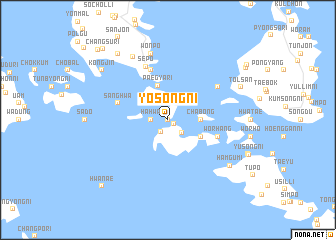 map of Yŏsŏng-ni