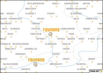 map of Younane