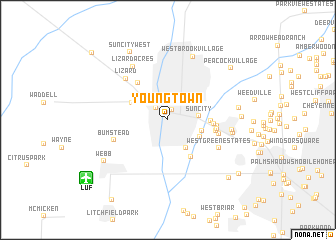 map of Youngtown