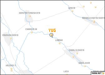 map of Yug