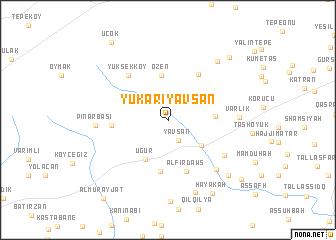 map of Yukarıyavşan