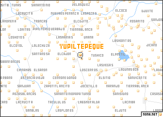 map of Yupiltepeque
