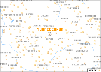 map of Yurac Ccahua