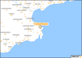 map of Yusŏng-ni
