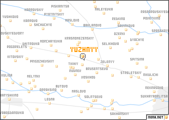 map of Yuzhnyy