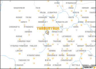 map of Ywabu Myauk
