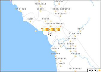 map of Ywahaung