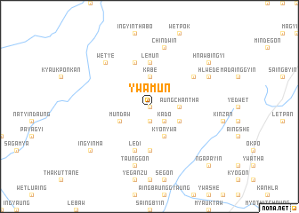 map of Ywamun