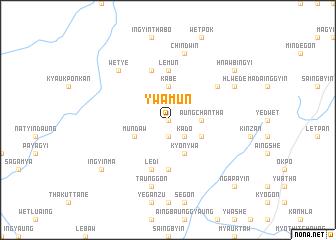 map of Ywamun