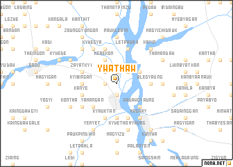 map of Ywathaw