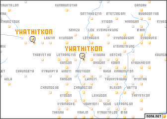 map of Ywathitkôn