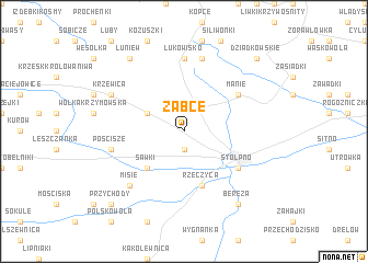 map of Żabce