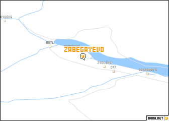 map of Zabegayevo