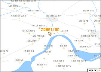 map of Zabelino