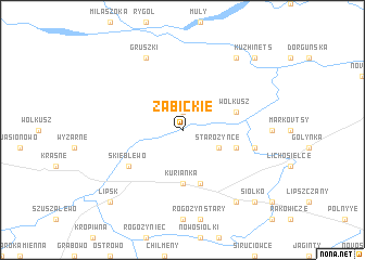 map of Żabickie