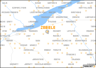 map of Zabiele