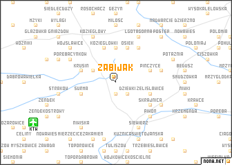 map of Zabijak