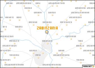 Zabin Zaria Nigeria map nonanet