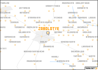 map of Zabolot\