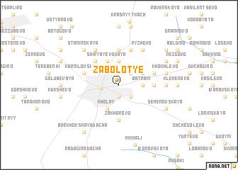 map of Zabolot\