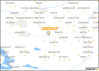 map of Zaborka