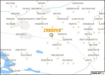map of Zaborka