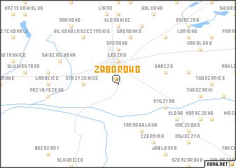 map of Zaborowo