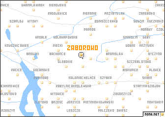map of Zaborowo