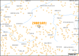 map of Žabrđani