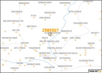 map of Zabrody
