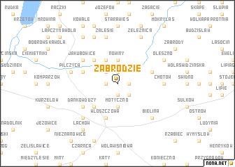 map of Zabrodzie