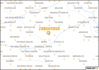 map of Zabudnowo