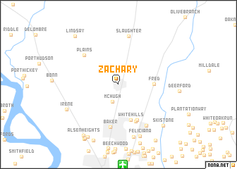 Zachary (United States   USA) map   nona.net