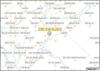 map of Zachwiejów