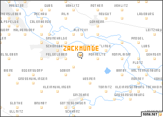 map of Zackmünde